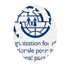 Logo Of International Organization For Migration Ornament (oval Filigree)