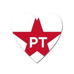 Logo Of Brazil Workers Party Heart Magnet by abbeyz71
