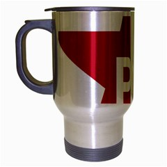 Logo Of Brazil Workers Party Travel Mug (silver Gray)