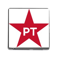 Logo Of Brazil Workers Party Memory Card Reader (square 5 Slot)
