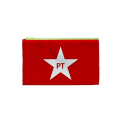 Flag Of Brazil Workers Party Cosmetic Bag (xs)