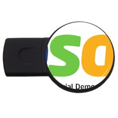 Logo Of Brazil Social Democratic Party Usb Flash Drive Round (2 Gb)