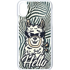 Hello Alpaca Apple Iphone Xs Seamless Case (white) by NiOng