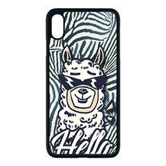 Hello Alpaca Apple Iphone Xs Max Seamless Case (black) by NiOng