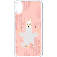 Cactus Alpaca Lama Apple Iphone X Seamless Case (white) by NiOng