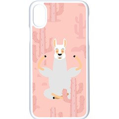 Cactus Alpaca Lama Apple Iphone Xs Seamless Case (white) by NiOng