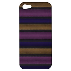 Stripes Pink Yellow Purple Grey Apple Iphone 5 Hardshell Case