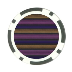 Stripes Pink Yellow Purple Grey Poker Chip Card Guard (10 Pack) by BrightVibesDesign