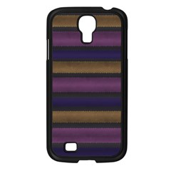 Stripes Pink Yellow Purple Grey Samsung Galaxy S4 I9500/ I9505 Case (black) by BrightVibesDesign