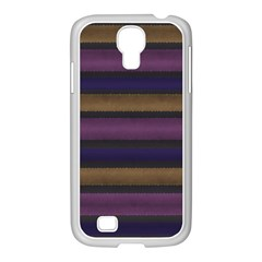 Stripes Pink Yellow Purple Grey Samsung Galaxy S4 I9500/ I9505 Case (white) by BrightVibesDesign