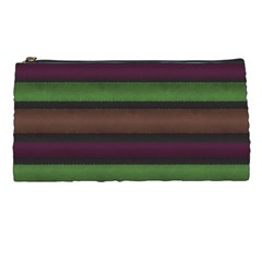 Stripes Green Brown Pink Grey Pencil Cases by BrightVibesDesign