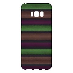 Stripes Green Brown Pink Grey Samsung Galaxy S8 Plus Hardshell Case