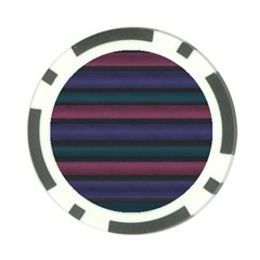 Stripes Pink Purple Teal Grey Poker Chip Card Guard (10 Pack) by BrightVibesDesign