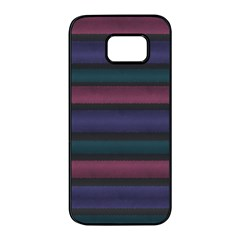 Stripes Pink Purple Teal Grey Samsung Galaxy S7 Edge Black Seamless Case by BrightVibesDesign