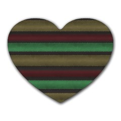 Stripes Green Red Yellow Grey Heart Mousepads