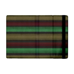 Stripes Green Red Yellow Grey Ipad Mini 2 Flip Cases by BrightVibesDesign