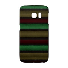 Stripes Green Red Yellow Grey Samsung Galaxy S6 Edge Hardshell Case