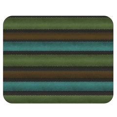 Stripes Teal Yellow Brown Grey Double Sided Flano Blanket (medium)