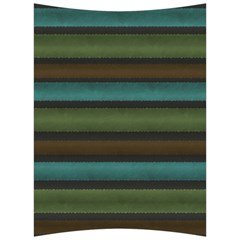 Stripes Teal Yellow Brown Grey Back Support Cushion