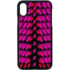 Flowers Coming From Above Apple Iphone Xs Seamless Case (black)