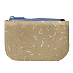Almond Buff Scribbles Large Coin Purse by TimelessFashion