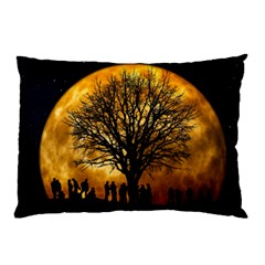 Met By Moonlight Pillow Case (two Sides)