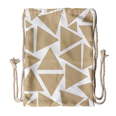 Almond Buff Triangles Drawstring Bag (large) by TimelessFashion