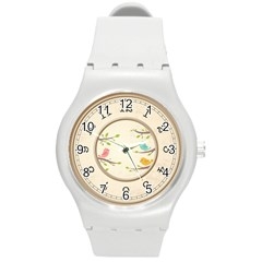 3 Little Birds Watch Round Plastic Sport Watch (m) by TimelessFashion