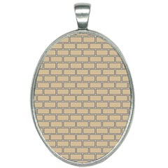 Brick Wall  Oval Necklace by TimelessFashion