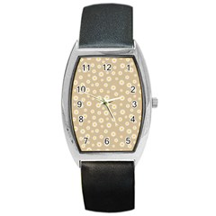 Field Of Daisies  Barrel Style Metal Watch