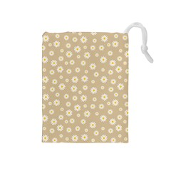 Field Of Daisies  Drawstring Pouch (medium)