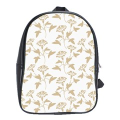 Floral In Almond Buff And White School Bag (xl) by TimelessFashion