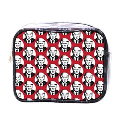 Trump Retro Face Pattern Maga Red Us Patriot Mini Toiletries Bag (one Side)