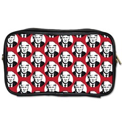 Trump Retro Face Pattern Maga Red Us Patriot Toiletries Bag (one Side)