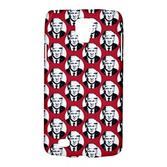 Trump Retro Face Pattern Maga Red Us Patriot Samsung Galaxy S4 Active (i9295) Hardshell Case