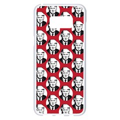 Trump Retro Face Pattern Maga Red Us Patriot Samsung Galaxy S8 Plus White Seamless Case by snek