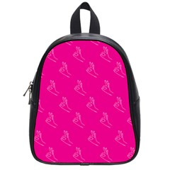 A Ok Perfect Handsign Maga Pro Trump Patriot On Pink Background School Bag (small)