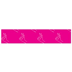 A Ok Perfect Handsign Maga Pro Trump Patriot On Pink Background Small Flano Scarf