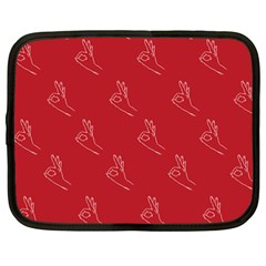 A Ok Perfect Handsign Maga Pro Trump Patriot On Maga Red Background Netbook Case (large)
