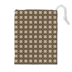 Grid Of Elegance  Drawstring Pouch (xl)