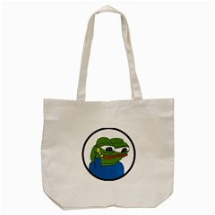 Apu Apustaja With Banana Phone Wall Eyed Pepe The Frog Kekistan Tote Bag (cream)