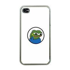 Apu Apustaja With Banana Phone Wall Eyed Pepe The Frog Kekistan Apple Iphone 4 Case (clear)