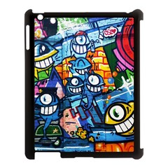 Graffiti Urban Colorful Graffiti Cartoon Fish Apple Ipad 3/4 Case (black)