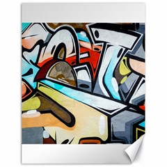 Blue Face King Graffiti Street Art Urban Blue And Orange Face Abstract Hiphop Canvas 18  X 24