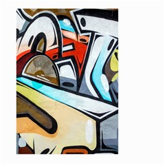 Blue Face King Graffiti Street Art Urban Blue And Orange Face Abstract Hiphop Large Garden Flag (two Sides)