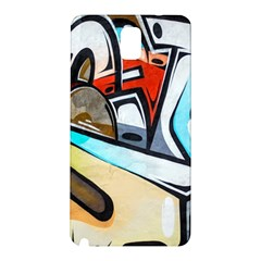 Blue Face King Graffiti Street Art Urban Blue And Orange Face Abstract Hiphop Samsung Galaxy Note 3 N9005 Hardshell Back Case by snek