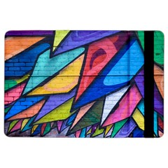 Urban Colorful Graffiti Brick Wall Industrial Scale Abstract Pattern Ipad Air 2 Flip