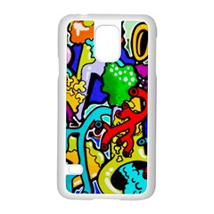 Graffiti Abstract With Colorful Tubes And Biology Artery Theme Samsung Galaxy S5 Case (white)