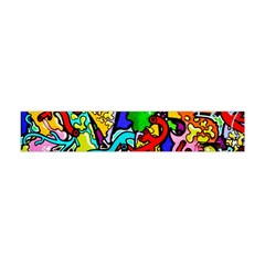 Graffiti Abstract With Colorful Tubes And Biology Artery Theme Flano Scarf (mini)