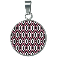 Decorative Pattern 20mm Round Necklace